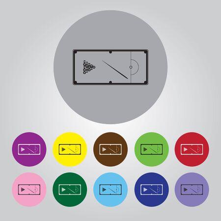 billiards rooms: Pool table vector icon