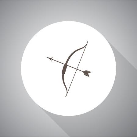 bow arrow: Bow arrow vector icon