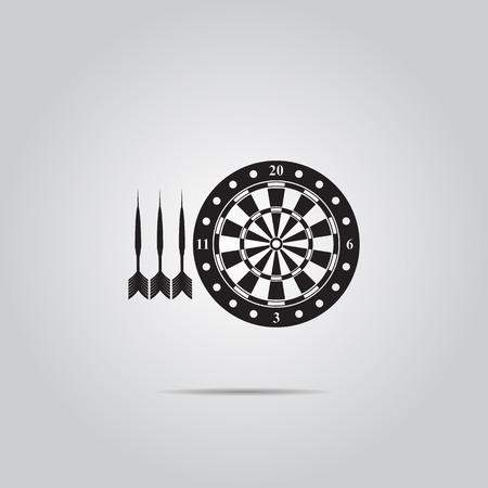 dartboard: Darts and dartboard vector icon, Illustration
