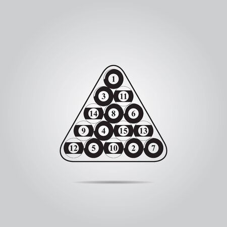 billiards rooms: Billiard balls triangle - Vector icon isolated Illustration