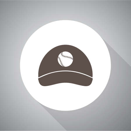 hat with visor: Baseball cap - Vector icon isolated