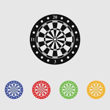 dartboard: Dartboard vector icon for web and mobile