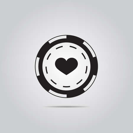 casino chip: Casino chip vector icon