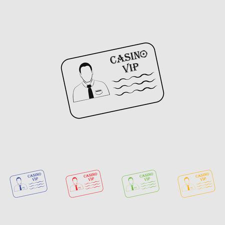 private club: VIP pass simple vector icon