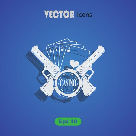excitement: Vector icon for the casino or poker