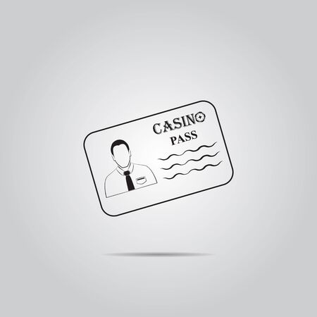 royal person: Casino pass simple vector icon Illustration