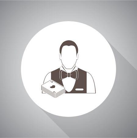 dealer: Casino Dealer vector icon