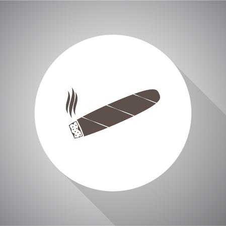 cigar: Cigar simple vector icon