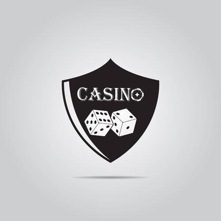 casino shield simple vector icon