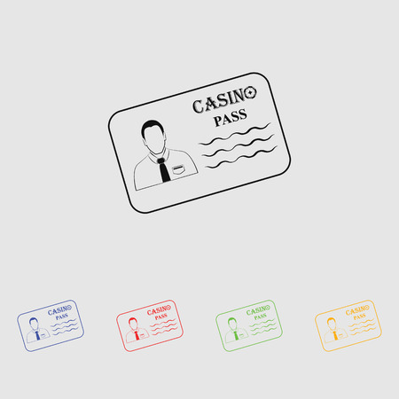 private club: Casino pass simple vector icon Illustration