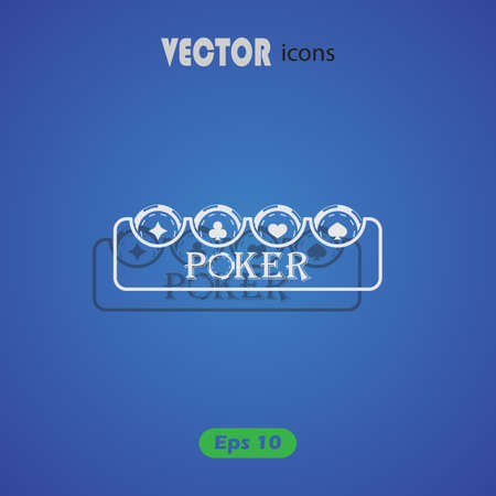 chip: Poker chip vector icon