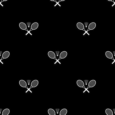 Badminton vector icons. Flat style
