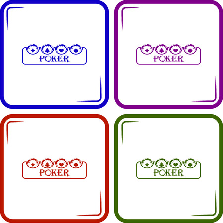 poker chip: Poker chip vector icon