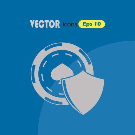 gamblers: Casino shield vector icon