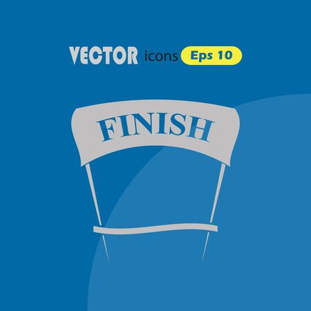 endpoint: Finish simple vector icon