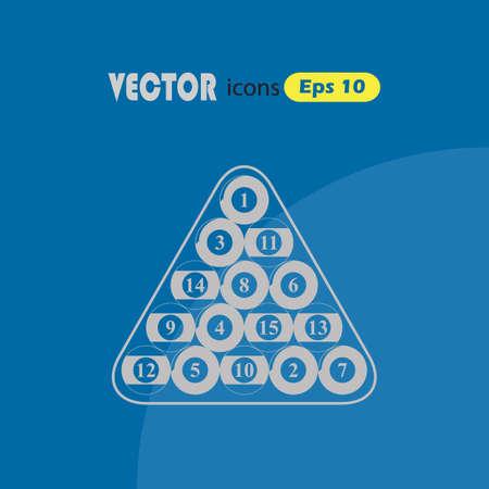 snooker rooms: Billiard balls triangle - Vector icon isolated Illustration