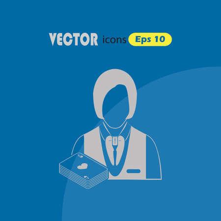 casino dealer: Casino Dealer vector icon