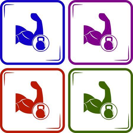 arrogancia: vector de pesos b�ceps icono moderno
