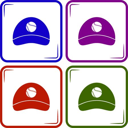 adolescent: Baseball cap - Vector icon isolated