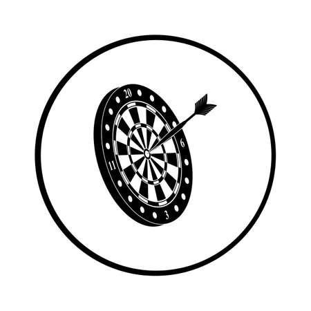 dartboard: Dart and dartboard vector icon