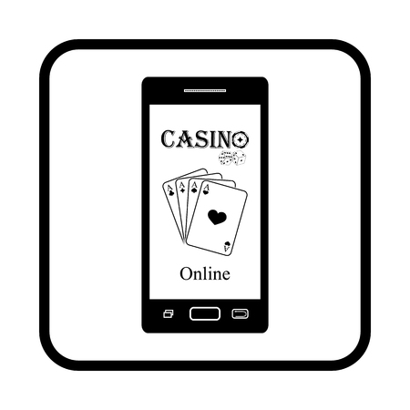 smart phone: Smart phone Gambling vector icon