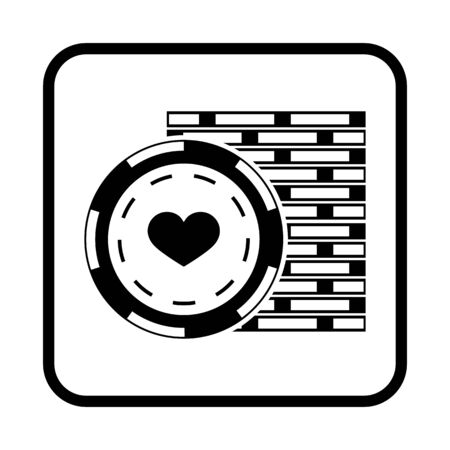 chips stack: Stack of Poker Chips Illustration. Vector icon