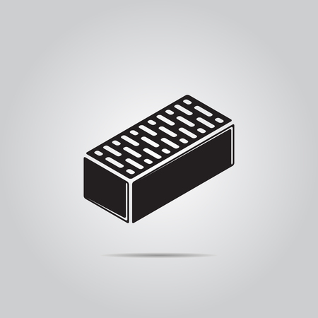 Brick vector pictogram voor web en mobiel