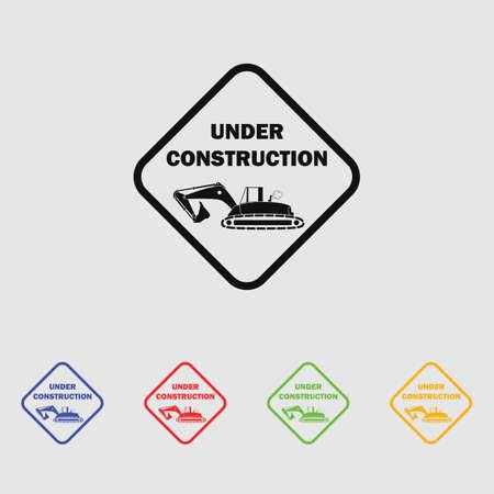 refit: Vector icon under construction,