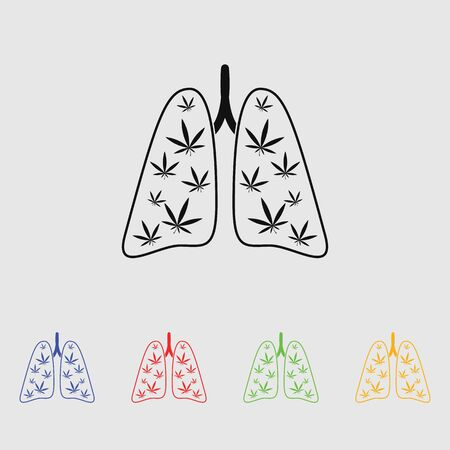 legalize: marijuana lungs vector icon Illustration