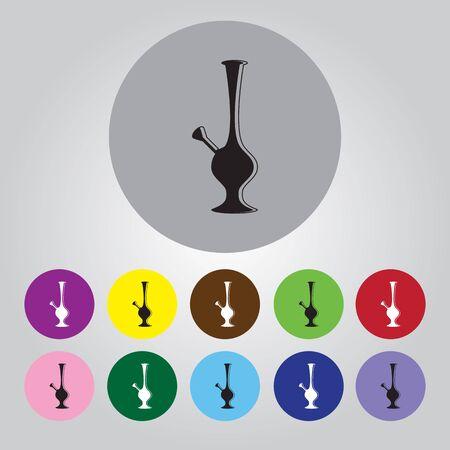 inhale: Bong Of Marijuana vector icon