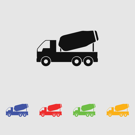 concrete mixer: concrete mixer icon Illustration