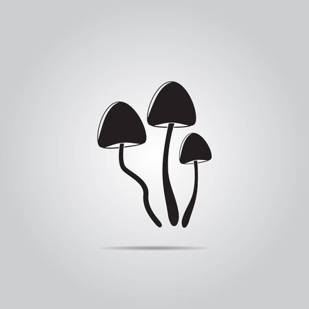 hallucinogen: Psilocybin mushrooms simple vector icon Illustration