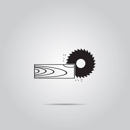 bench: Power-saw bench vector icon