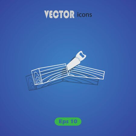 pieces of furniture: timber vector icon for web and mobile Illustration