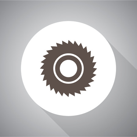 cutoff blade: saw vector icon for web and mobile