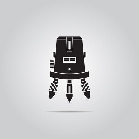 metrics: laser level vector icon Illustration
