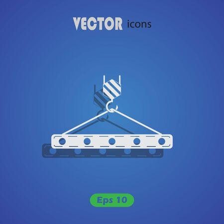 web crawler: Pictograph of crane hook. Vector icon