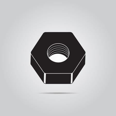 rivet: Nut screw. Vector icon