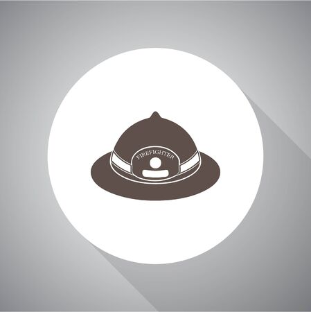 public servants: fireman helmet, vector illustration