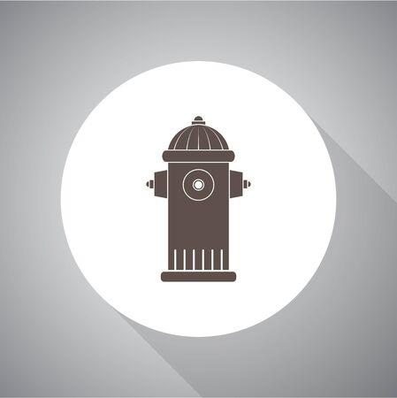 borne fontaine: symbole de bouche d'incendie Illustration