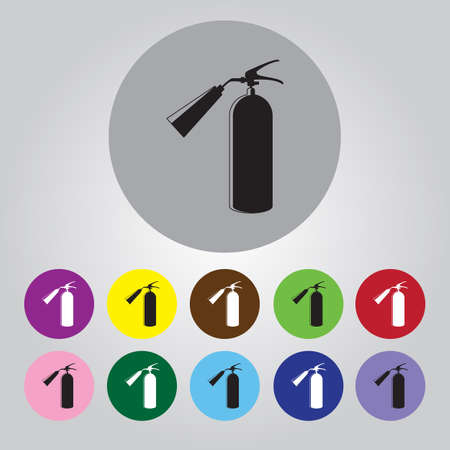 extinguish: fire extinguisher Icon Vector.