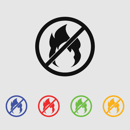 no fire vector Icon.