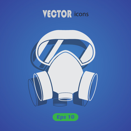 respirator: respirator vector icon for web and mobile Illustration
