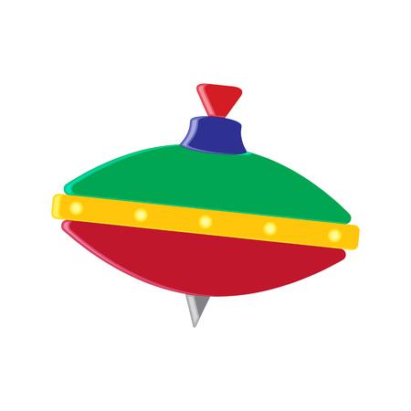 perinola: icono de la perinola. estilo plano.