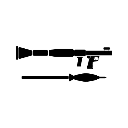 rpg: RPG black simple icon for web and mobile. Flat style. Illustration