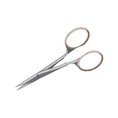 nail scissors: Nail scissors vector icon. Flat style