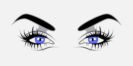 blue eyes: Vector illustration Blue eyes