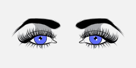 Vector illustratie Blauwe ogen Vector Illustratie