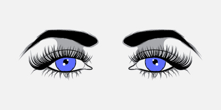 blue eyes: Vector illustration Blue eyes