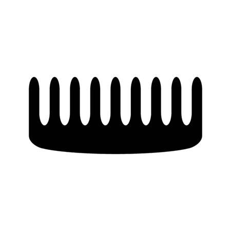 personal grooming: Comb vector icon. For wb and mobile. Flat style. Illustration